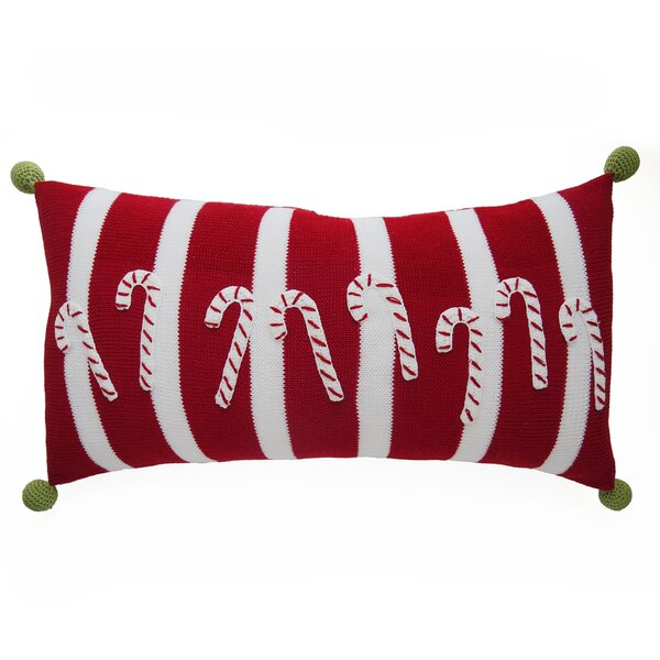 Candy Cane Stripes Christmas 100% Cotton Lumbar Pillow by The Holiday Aisle